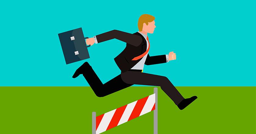 Emprendimiento carrera de obstáculos
