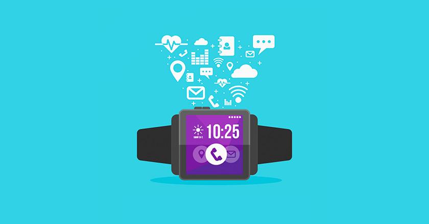 icono de smartwatch y varias de sus aplicaciones